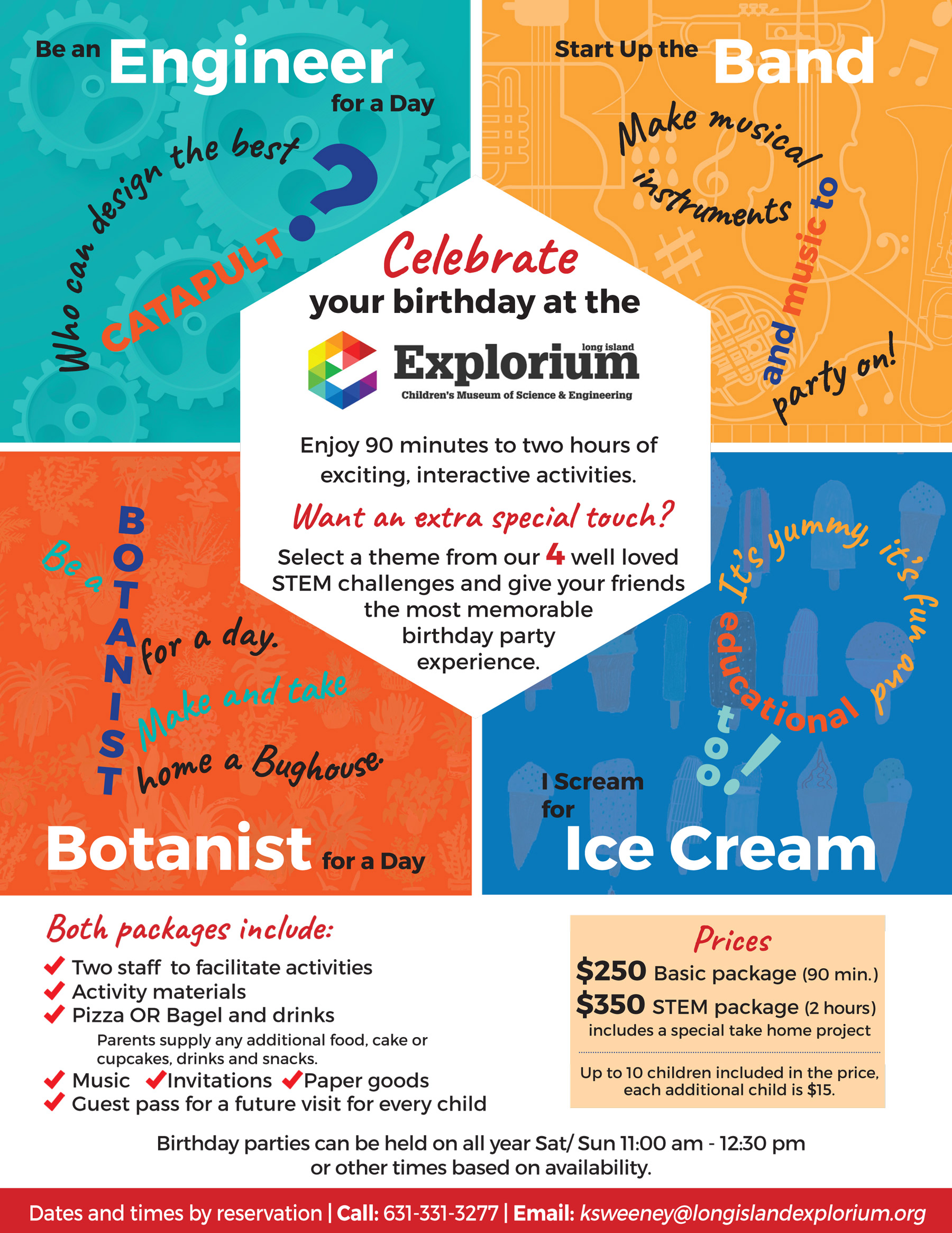 Birthday Parties at the Long Island Explorium