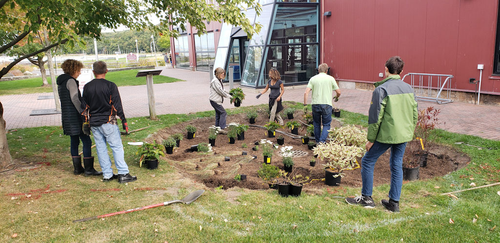Installation of Rain Garden.  Photo credit Julia Todorov