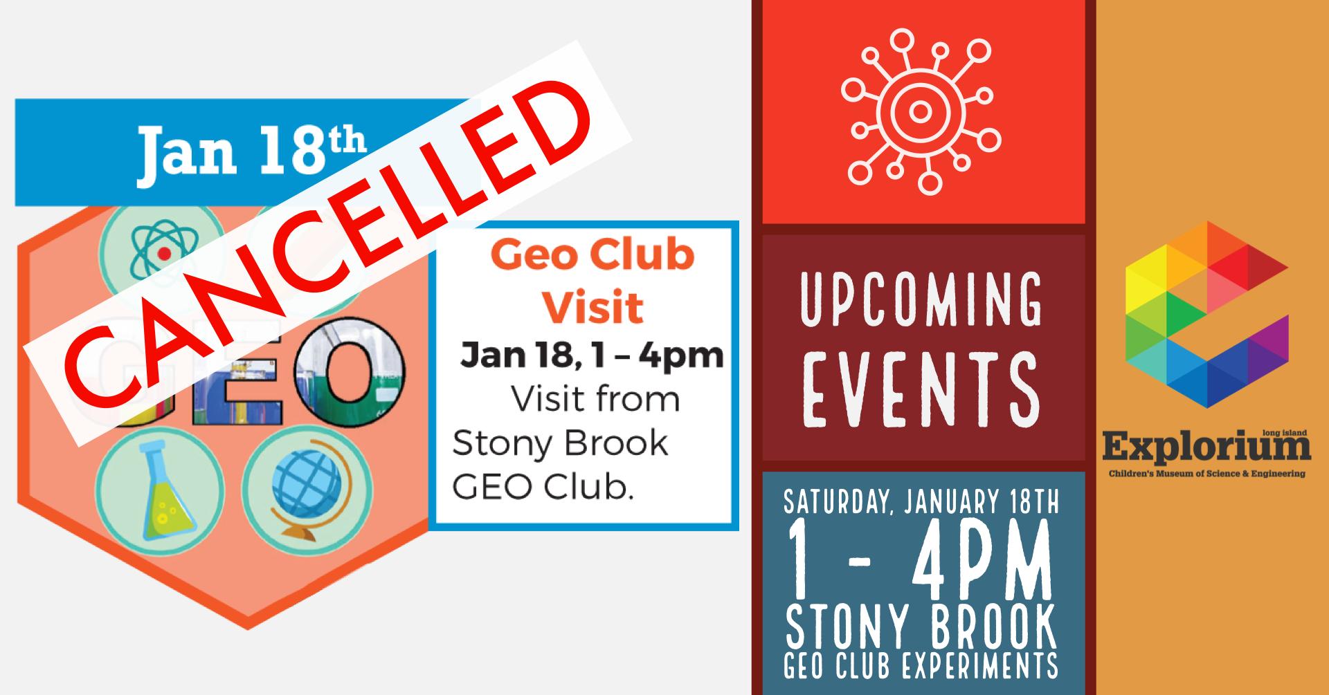 Geo Club cancelled