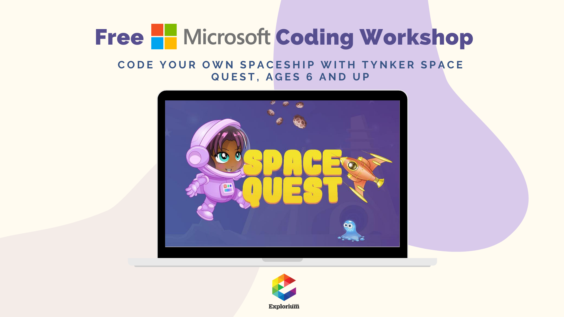 Code your Own Spaceship Tynker Space Quest workshop event - feb 11th