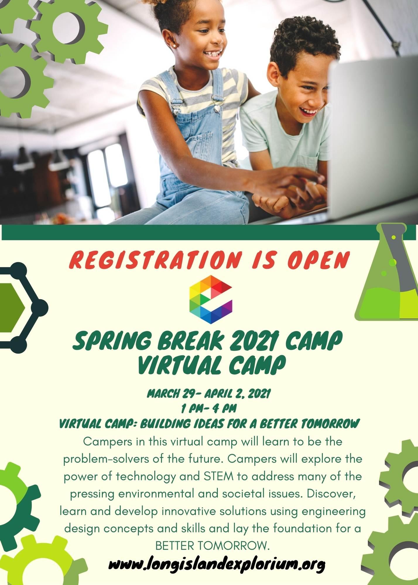 Spring Break 2021 flyer virtual