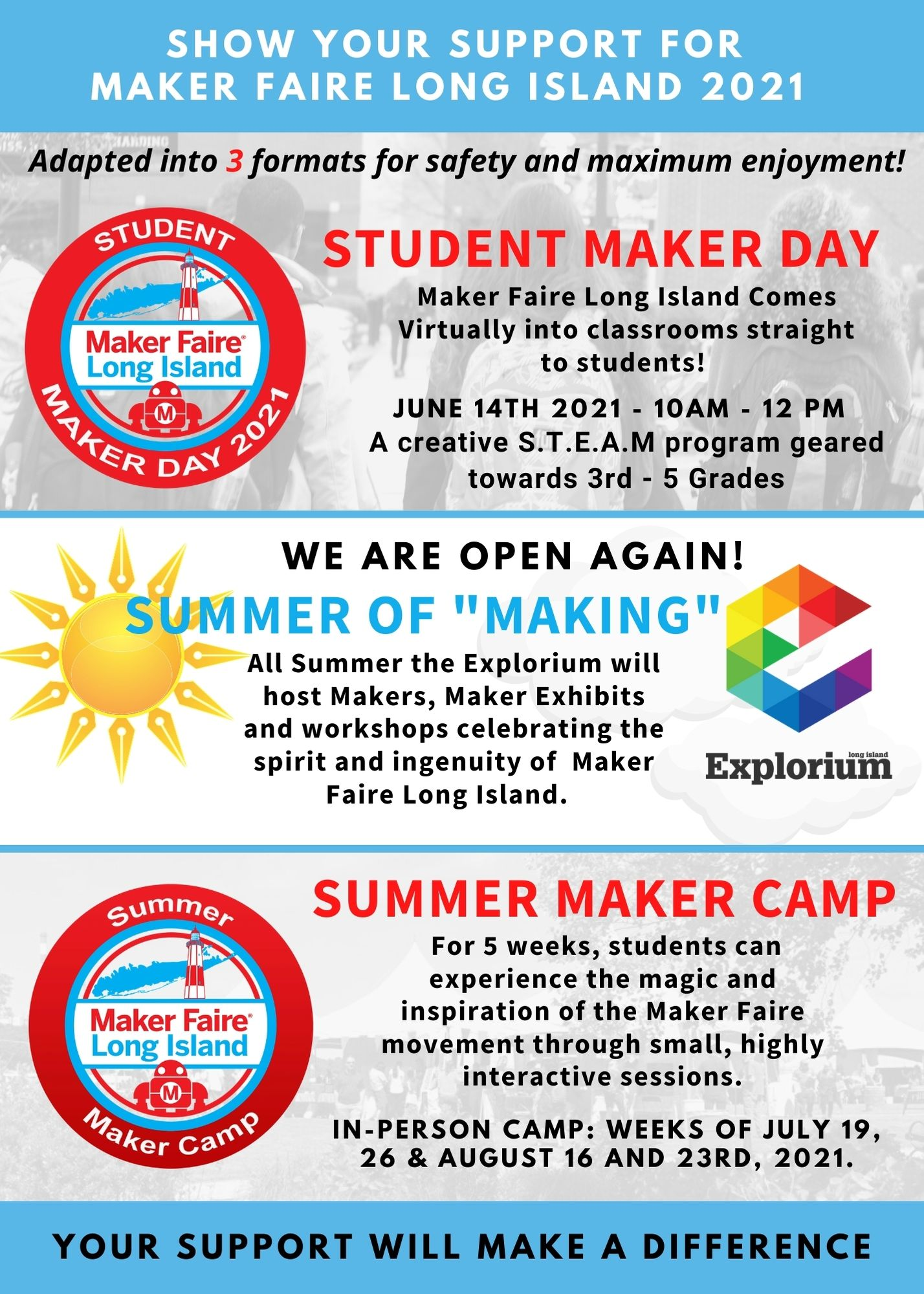 Summer Of Making at the Explorium Flyer