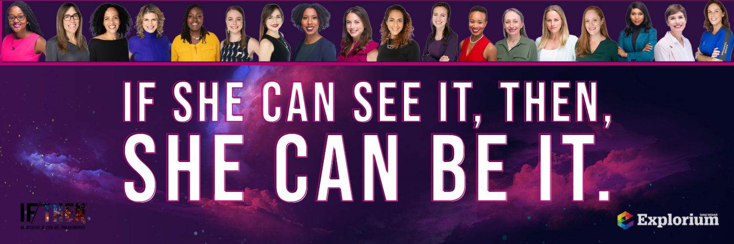 IF she can see it, THEN, she can be it Logo.  She can STEM