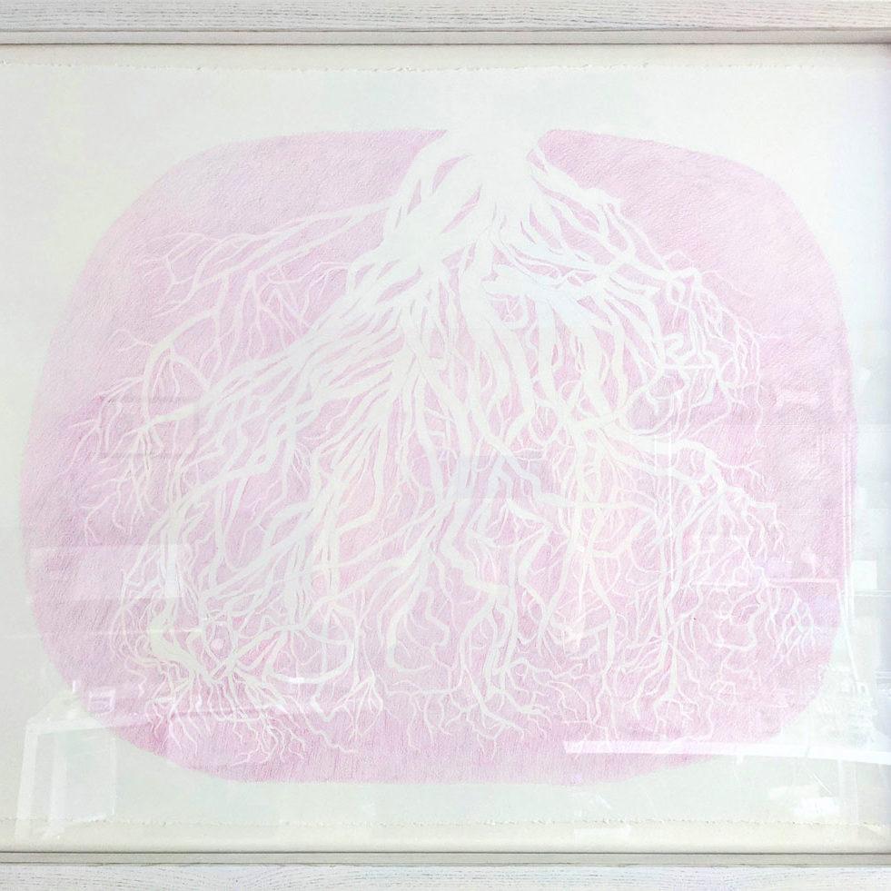 "Artist: Jillian Macdonald  Untitled, 2021 Coloured pencil on paper  30x22"" $1500"